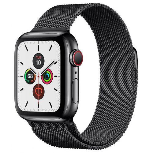 Apple Watch Series 5 40mm Stainless Steel Case with Milanese Loop Black