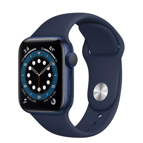 Apple Watch Series 6 40mm Blue Aluminum Case with Sport Band (Blue)