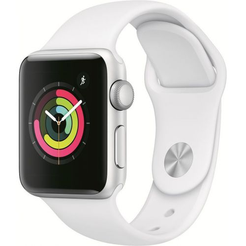 Apple Watch Series 3 42mm Aluminum Case with Sport Band (White)
